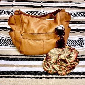 J.Crew leather bag. Vintage.  Leather.  Brown-ish